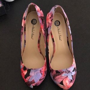 Michael Antonio pink/blue floral shoes